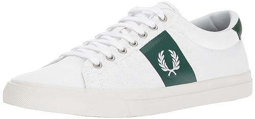 Fred Perry Underspin Plastisol Twill, Zapatos de Cordones Oxford para Hombre, Blanco (White Ivy), 42 EU: Amazon.es: Zapatos y complementos