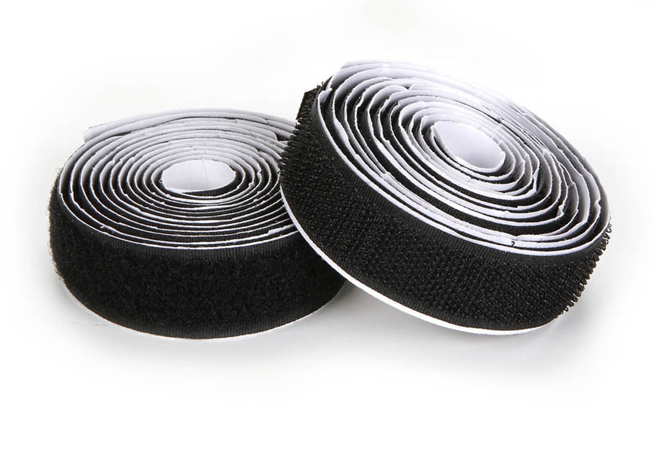 "Strong Self-Adhesive Interlocking Tape Darice Hook and Loop Strips Around The House and Classroom Easily Cut to Size 3//4/"" W x 15/' L Great for Sewing Black Crafting"