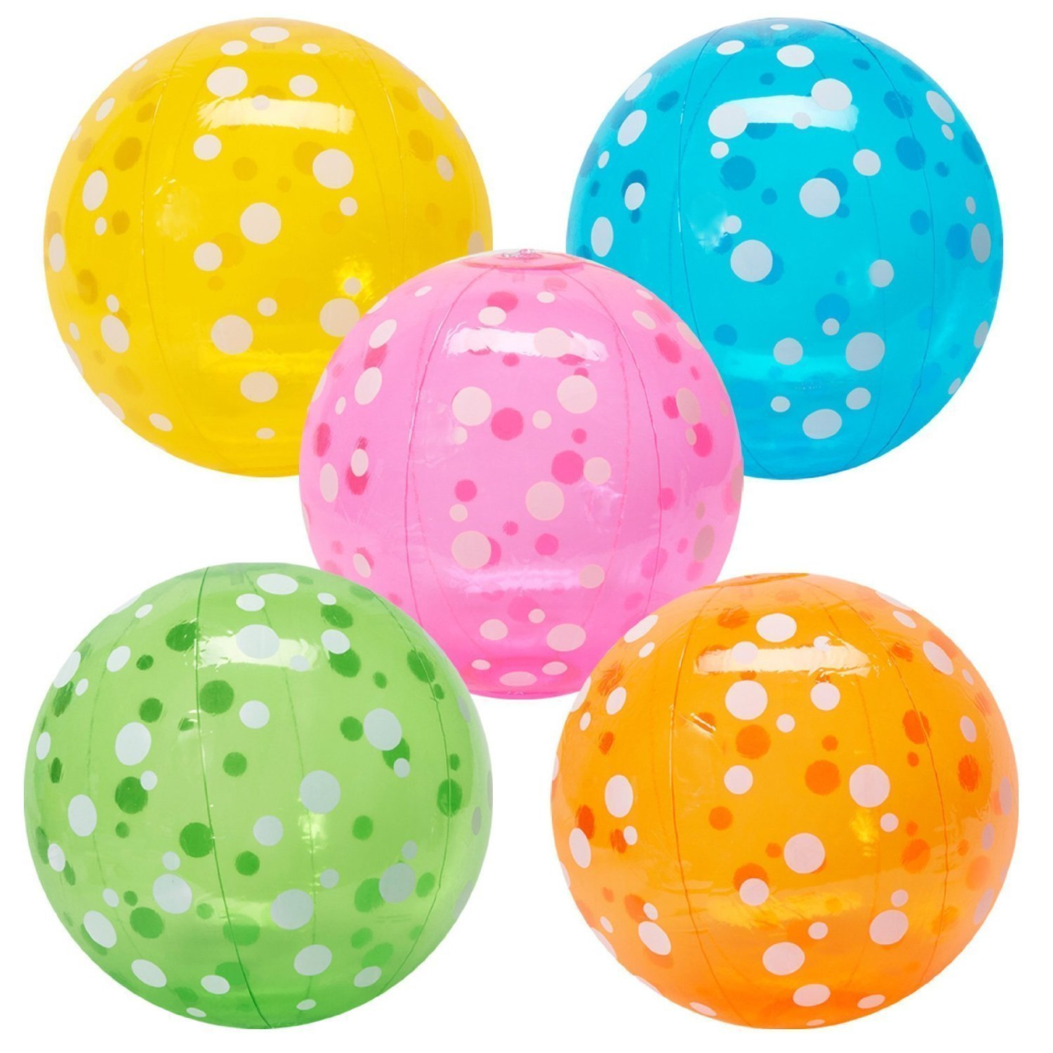 Fun Express Inflatable Polka-Dot Beach Balls (1 Dozen)