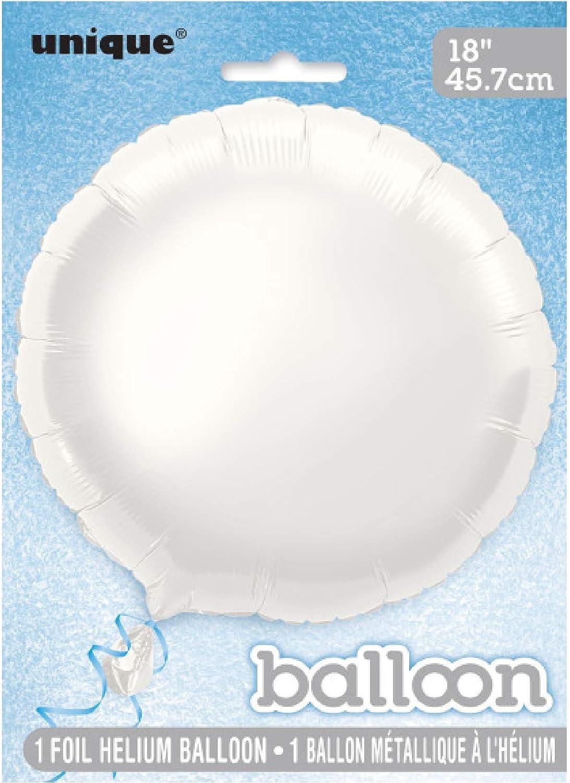 18 Foil Round White Balloon Unique Party Favors 53341