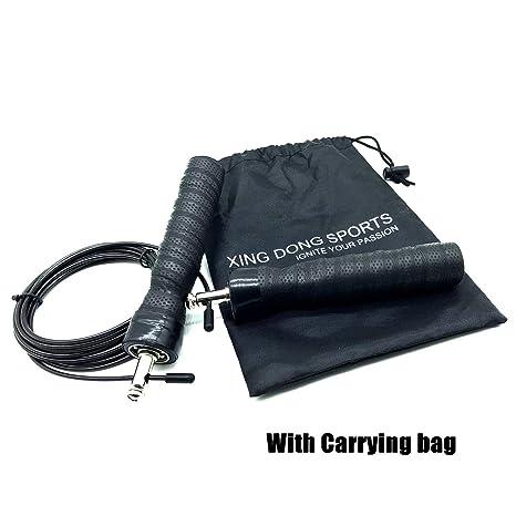 Incluye 2/Cables y Bolsos CONSUL Cuerda para Saltar Ejercicios de Fitness y Boxeo Speed Rope