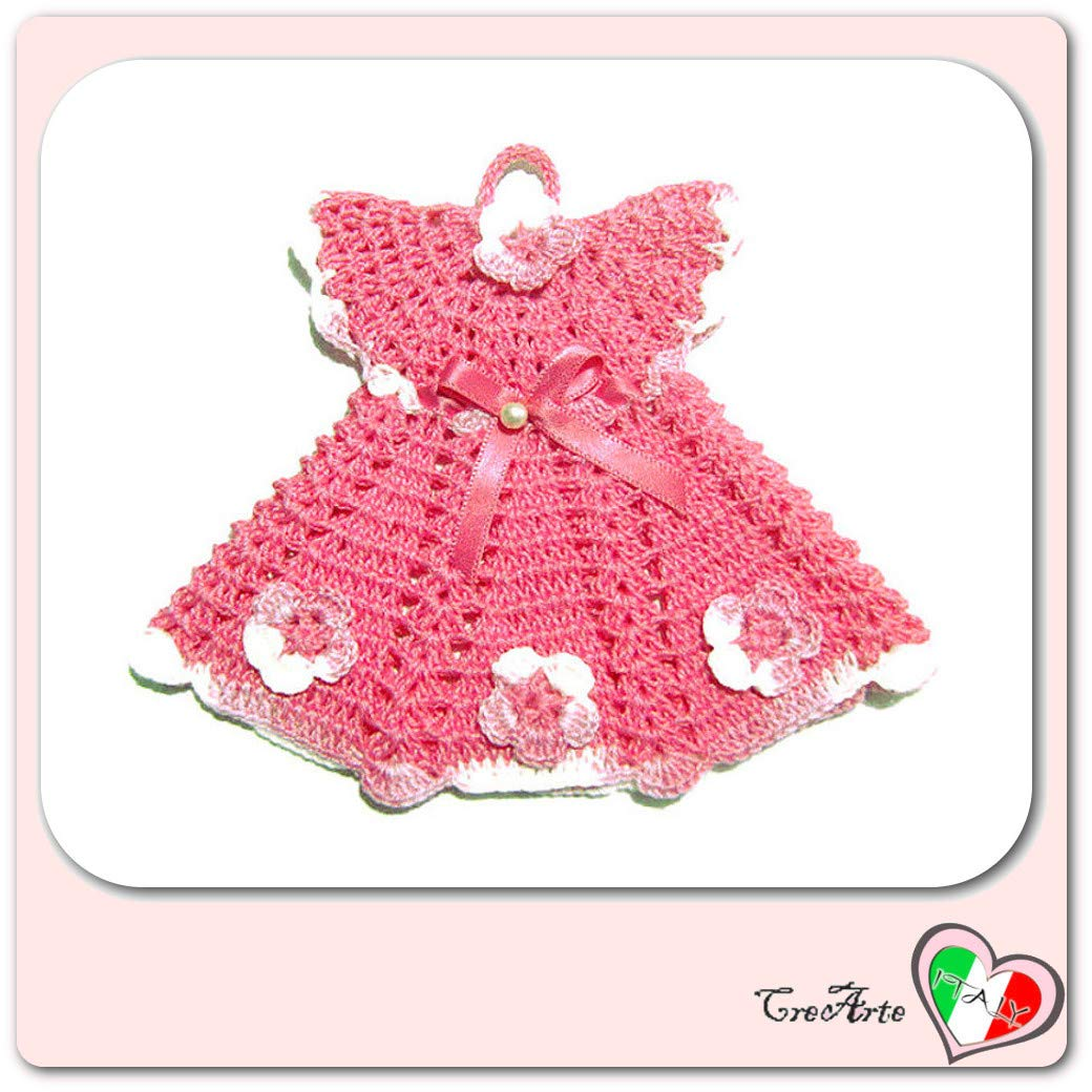 ottenere a buon mercato ottima vestibilità ultimo design Presina vestitino con cappello rosa all'uncinetto - Vestito: 16 cm ...