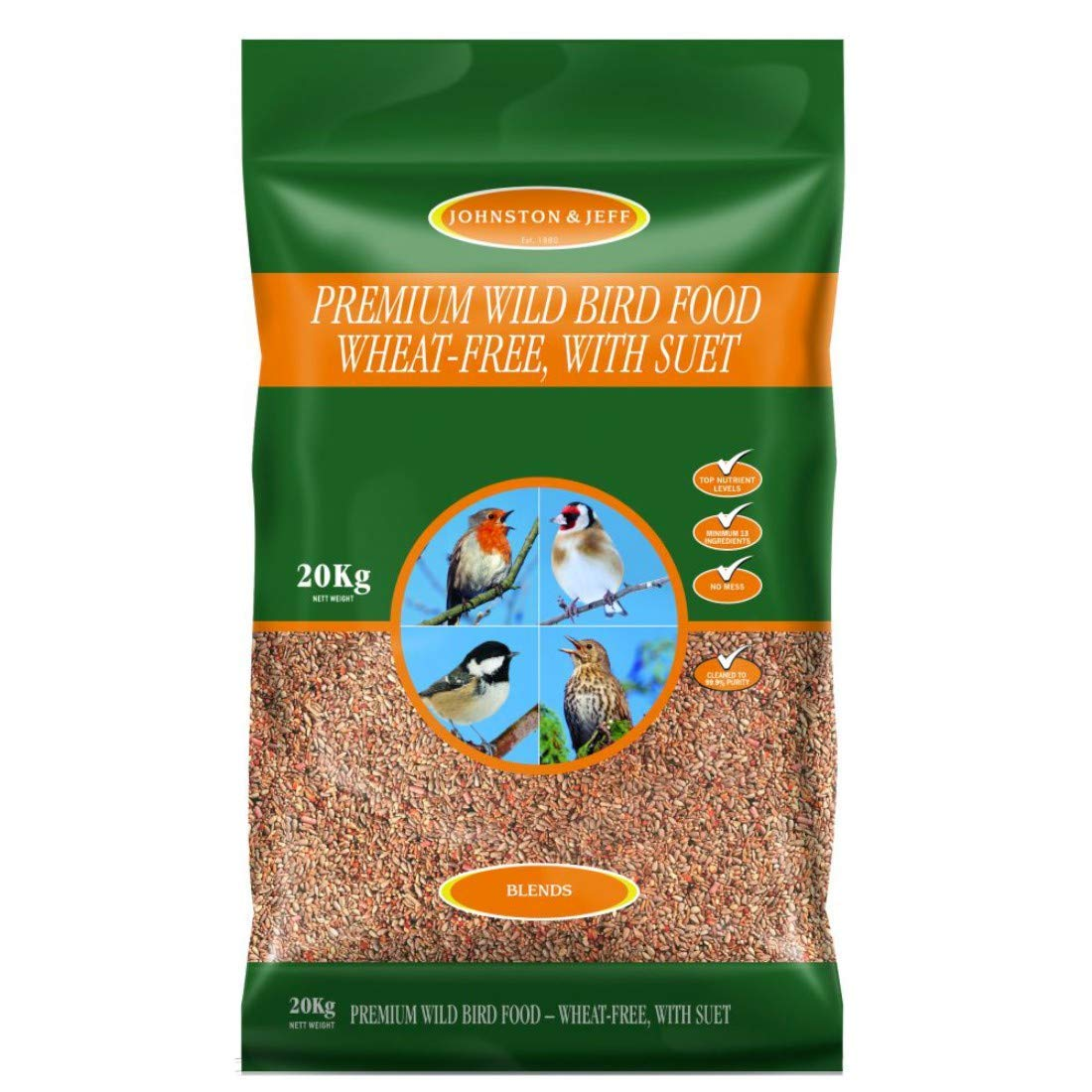20kg Johnston & Jeff Premium Wild Bird Food, 20 kg