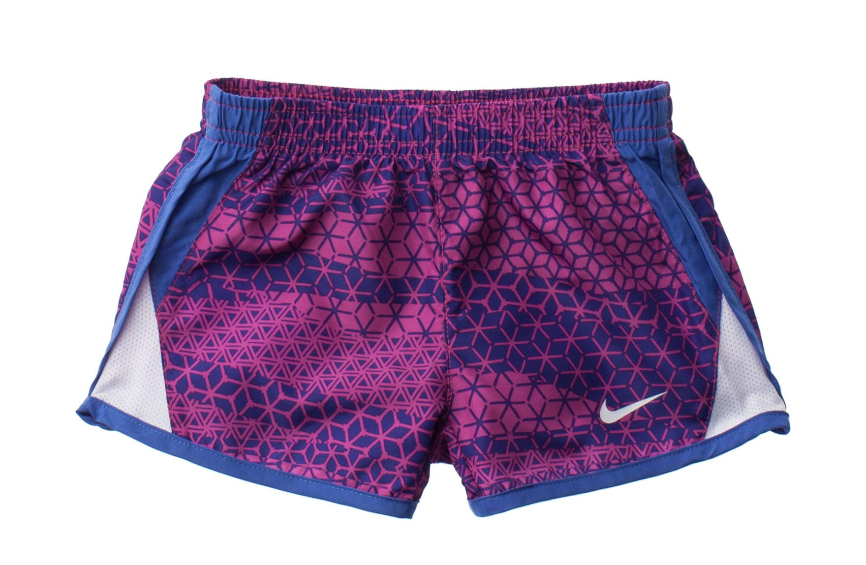 Nike Girl`s Dri-FIT Running Tempo Shorts (Marled Blue Sapphire, 4) by Nike