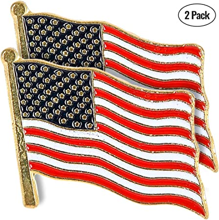 Made in USA American Flag Pins