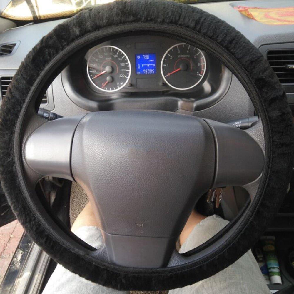Amerryllis New Warm Plush Winter car Steering Wheel Cover Imitation Wool Universal auto Supplies car Accessories