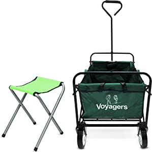 Folding Wagons with Wheels Collapsible | Multi Use Utility Carts with Wheels Foldable | Rolling Beach Cart for Sand | Shopping Cart Trolley Foldable | Outdoor Utility Wagon | Sports Wagons Carts