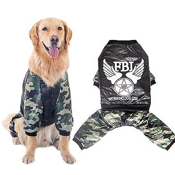 PLHF Ropa para perros Ropa de otoño e invierno Perro mediano grande Cría de animales de