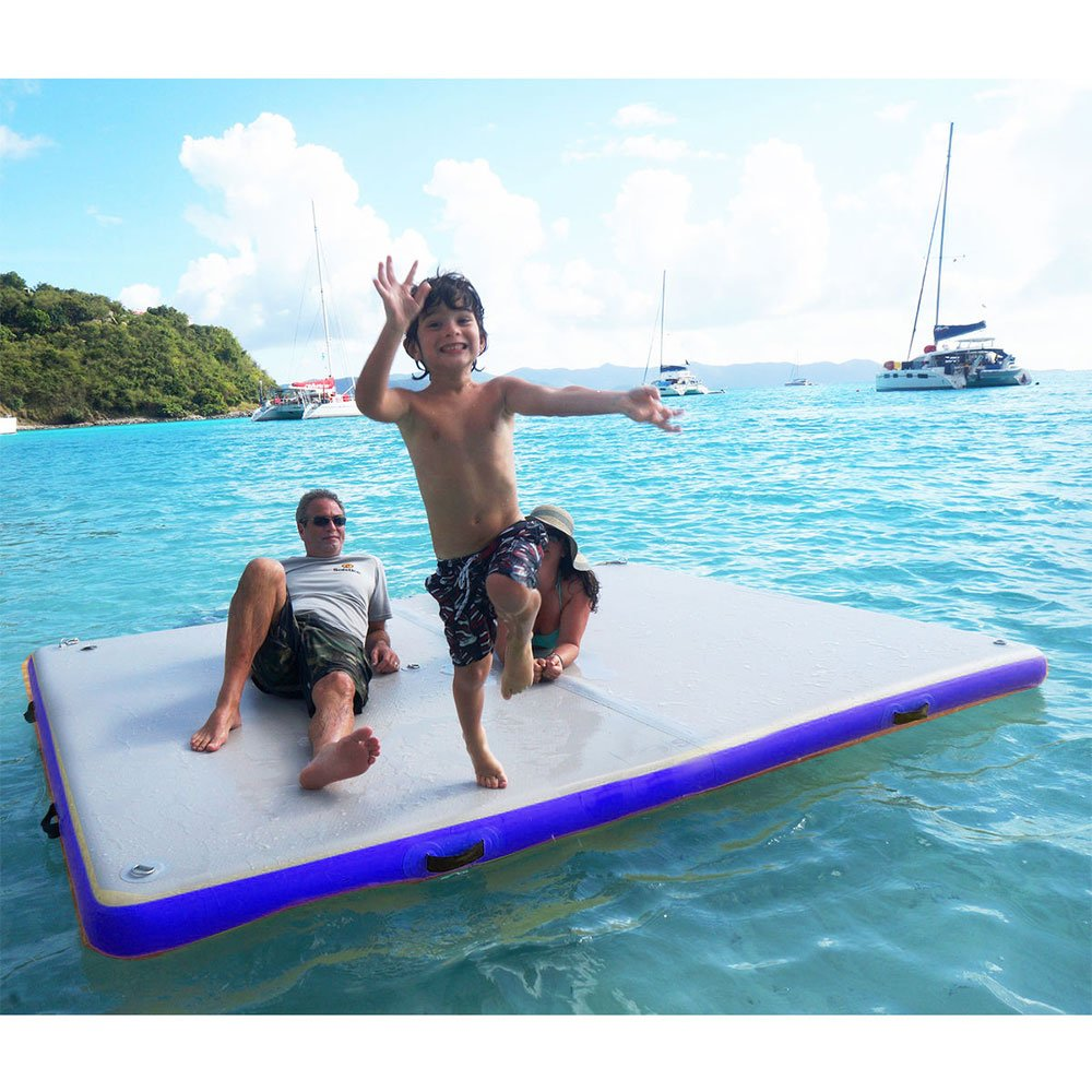 Amazon.com : Sinolodo Inflatable Floating Docks - Island Inflatable Air Platform - Airport Classic Inflatable Swim Platform : Sports & Outdoors