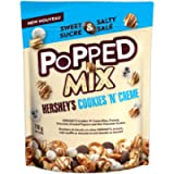 HERSHEY'S POPPED Chocolate Snack Mix, Cookies n Crème, 170 Gram