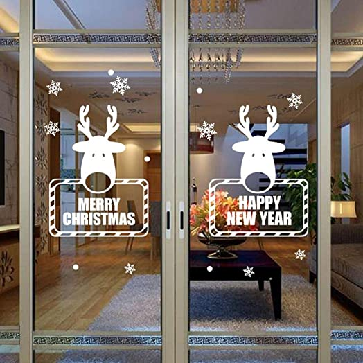 Tonsee Christmas Snowflake Wall Sticker Decoration Decal Window - Window stickers for home uk