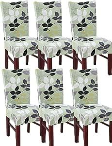 Duradera Lavable Cubierta de Asiento 4pcs Fundas Para Sillas,Biel/ástico Extra/íble Funda Cubiertas Para Sillas
