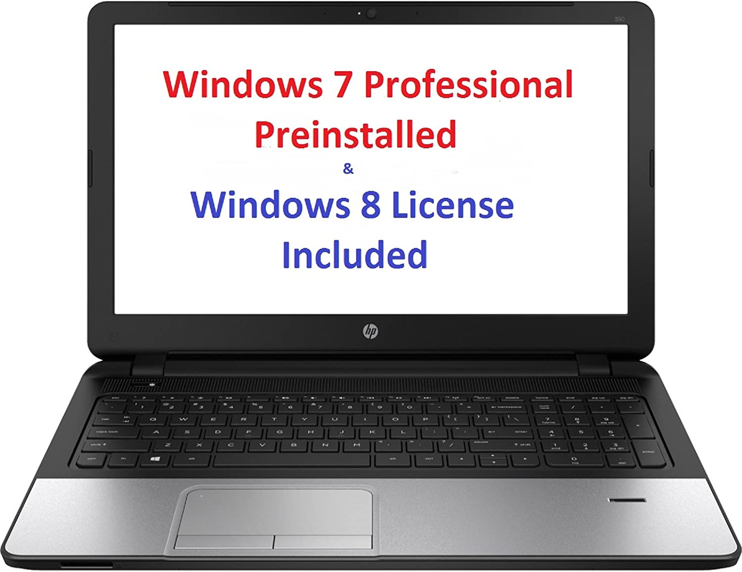 "HP 350 Notebook Intel Core i7 4510U (2.00GHz) 8GB Memory 500GB HDD Intel HD Graphics 4400 15.6"" Windows 7 Professional 64-Bit"