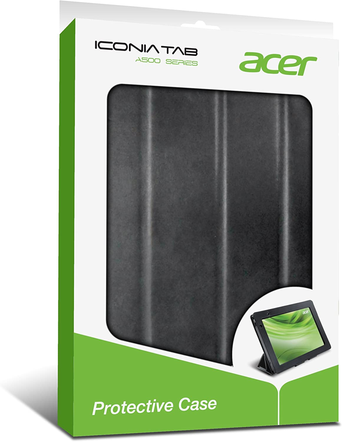 Acer Iconia Foldable Protective Case for Tablet - Black (A500C02K)