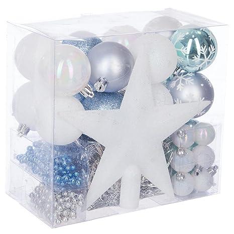 9df1ba5a0 Lote de navidad - Kit 44 piezas para decorar árbol: Guirnaldas, Bolas y  Estrella