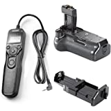 Neewer BG-E8 Replacement Battery Grip + LCD Timer Shutter Release Remote Control for Canon EOS 550D 600D 650D 700D/ Rebel T2i T3i T4i T5i SLR Cameras