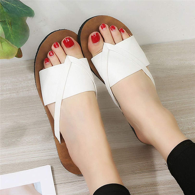 Summer Beach Flip Flops Sandals Womens Slippers Female Flat Sandals Flip Flops,White,37