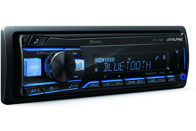Alpine UTE-73BT Advanced Bluetooth Mech-Less Digital Media Receiver (Does not Play CDs) by Alpine