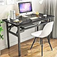 "Folding Table Small Computer Desk YJHome 31.5"" X 15.75"" X 29"" Student Study Writing Desk Latop Foldable Desk Black…"