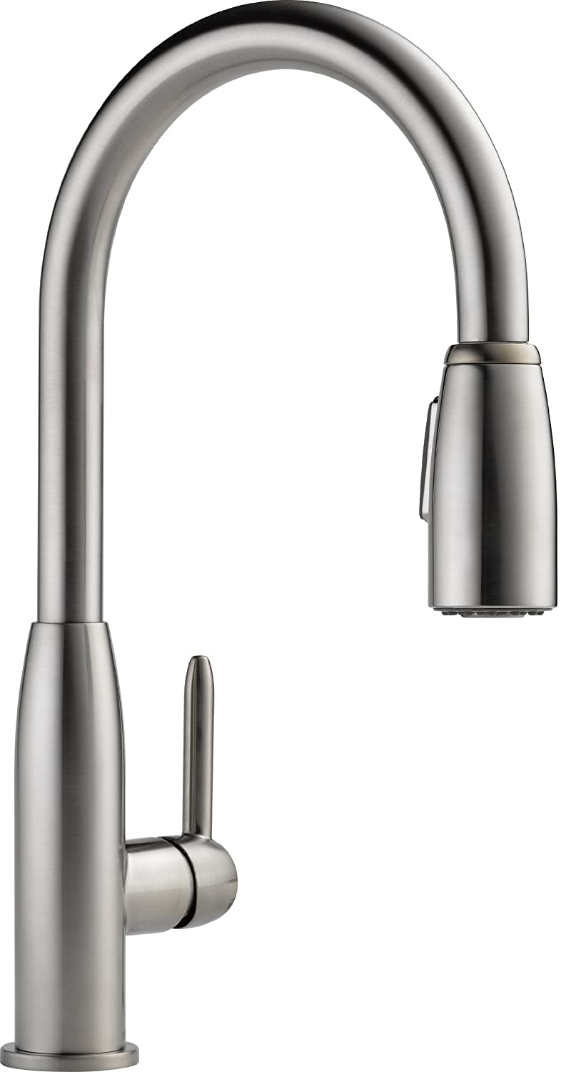 Peerless P188103LF-SS Apex Kitchen Integrated Pull Down Kitchen Faucet, Stainless