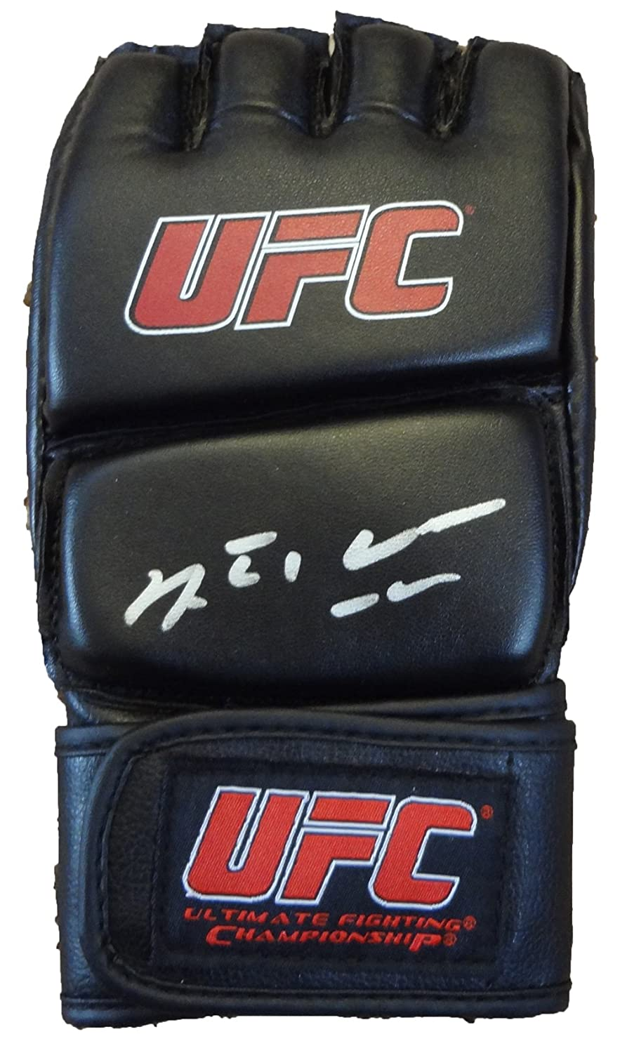 Anderson Silva Autographed UFC Fight Glove W/PROOF, Picture of Anderson Signing For Us. UFC Middleweight Champion, Brazil, Chael Sonnen, Dana White, Chris Weidman