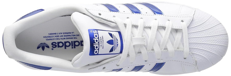 adidas Women's Superstar Foundation Casual Sneaker B071JVSV59 10 B(M) US|Ftwwht,boblue,ftwwht