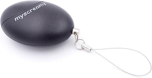 Mini Alarma de p/ánico Proporciona Ayuda con Asalto Llavero Alarma de Bolsillo Extremadamente Fuerte myscreamy Alarma Personal Defensa Personal para Mujeres