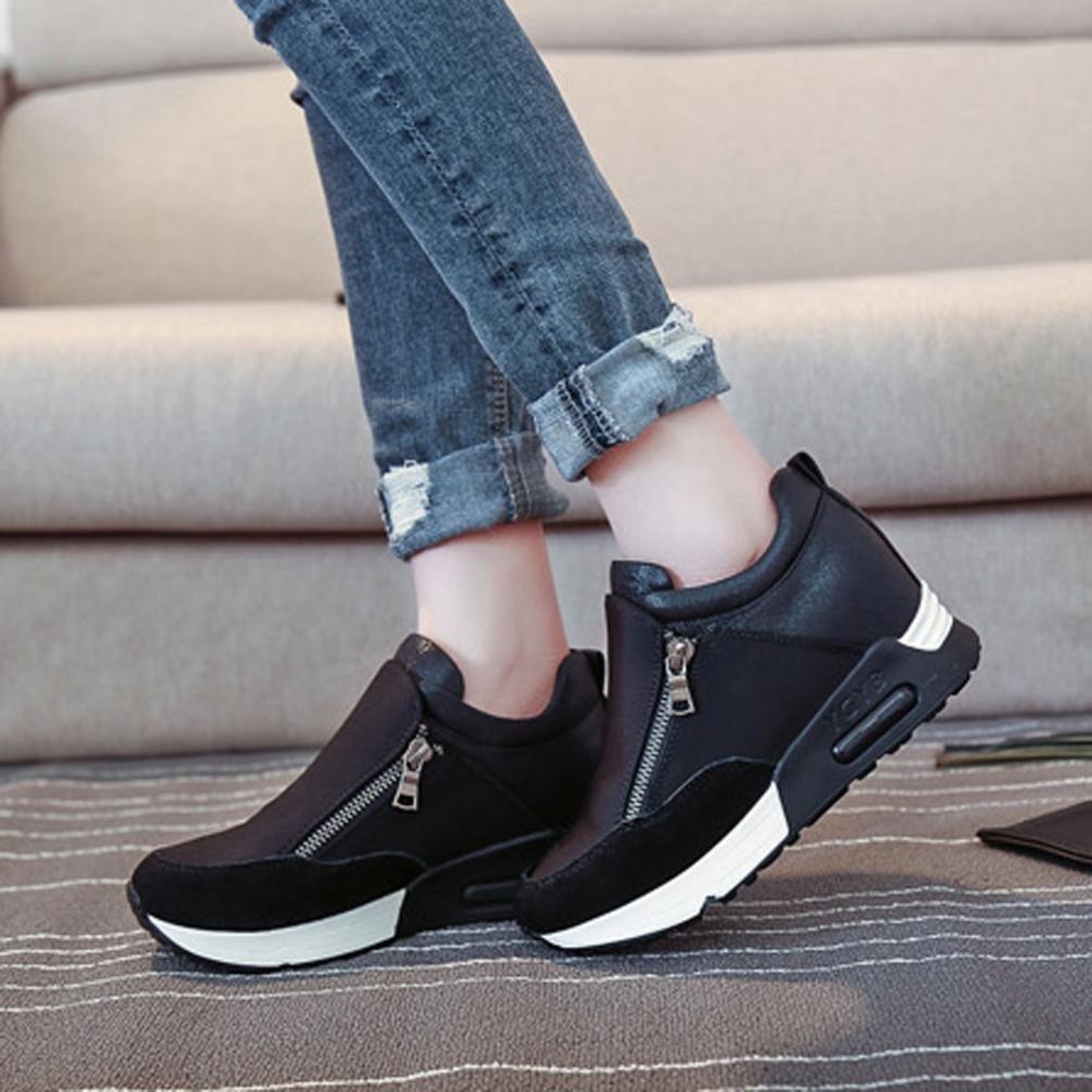 79a09804c0 Beautyjourney Chaussures Femme, Basket De Ville Femme Chaussures Femme  Basket,Les Femmes Sneakers Mode Sport Running ...
