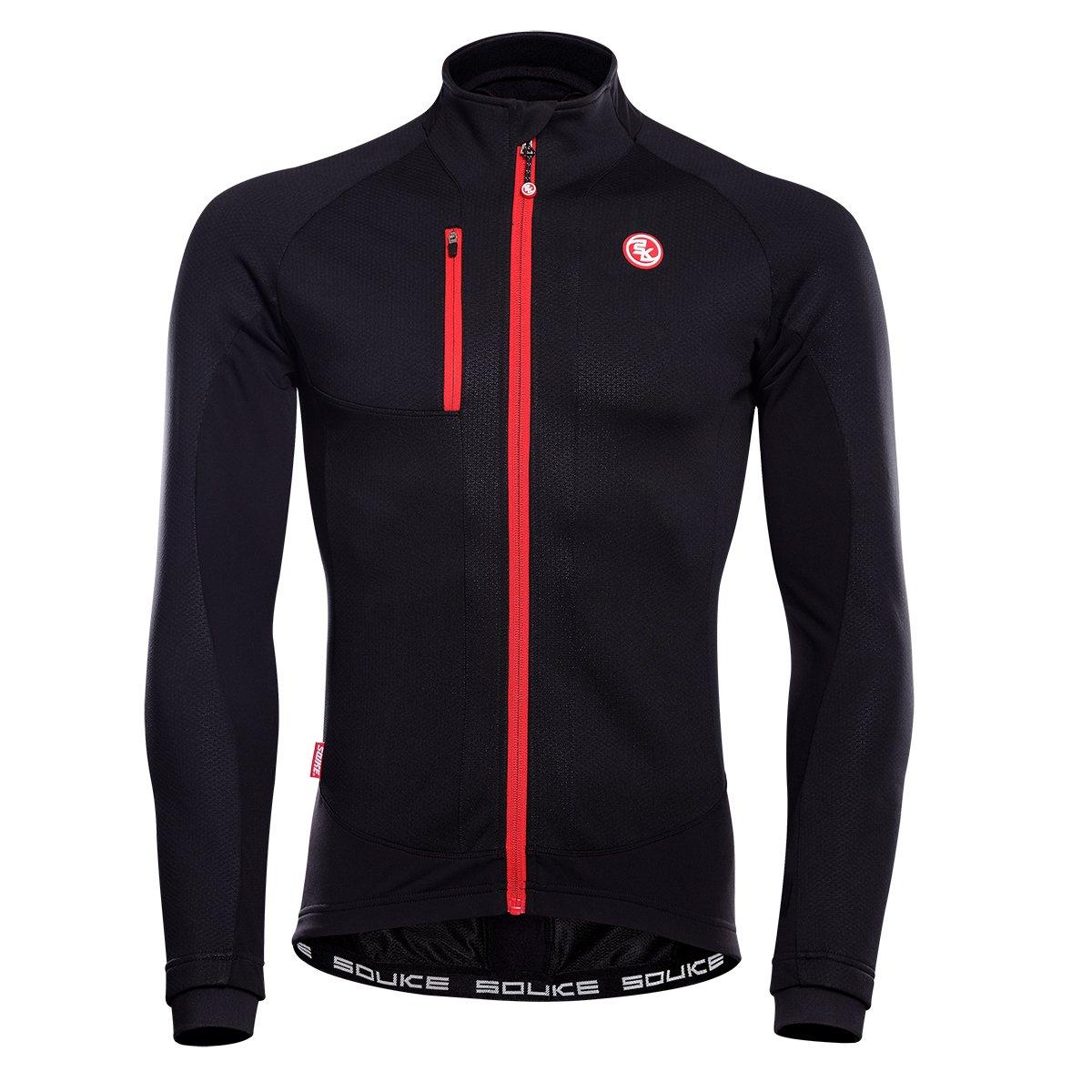 eco-daily冬メンズ熱サイクリングジャケット防風防水Ourdoor服スポーツウェア B0769G7X79  ブラック XL