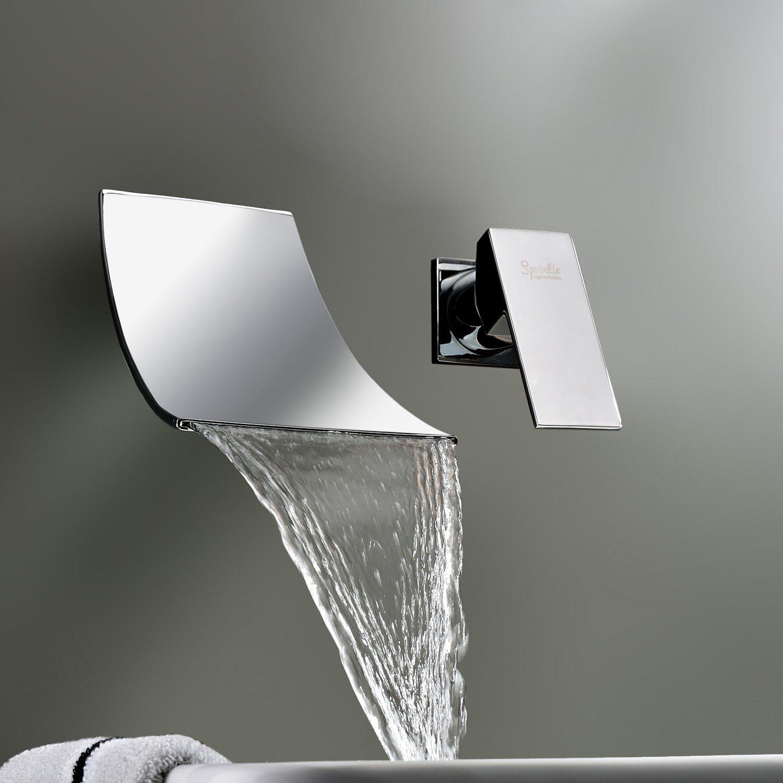 Wall Bathroom Faucet Lightinthebox Widespread Waterfall Bathtub Mixer Taps Bath Shower