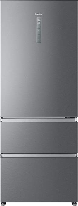 Clase A++ 70cm de ancho Inox Haier A3FE742CPJ Motor Inverter Total No frost Frigor/ífico combi con congelador de cajones Libre Instalaci/ón
