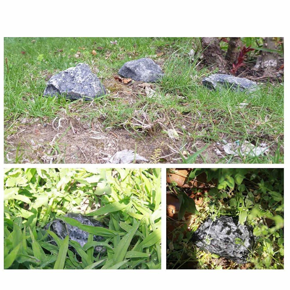 GOOTRADES Hide a Spare Key Fake Rock,Safe Keys Storage Box Hiding for Outdoor Garden