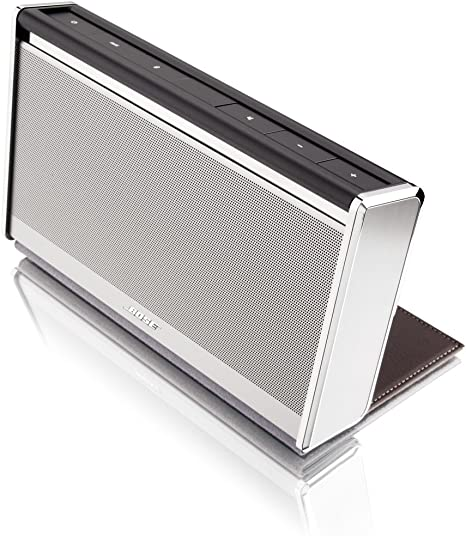 Bose ® SoundLink ® Wireless Mobile Speaker (Chrome Finish with Dark Brown  Leather Cover)