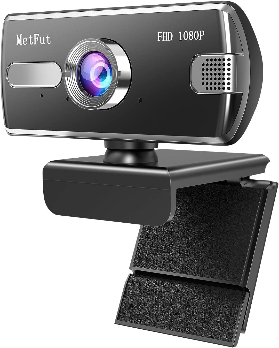 MetFut Webcam with Microphone, USB Plug and Play, Auto Focus 1080P HD Computer Camera for PC MAC Laptop Desktop, Streaming Web Camera for Skype,YouTube, Live Broadcast Video Conference