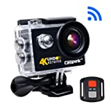 Campark® ACT73R 4K Sport Action Camera 170° Wide Angle 16MP WIFI Underwater Camera Camcorder Remote Control for Bike Motorcycle Surfing Diving Swimming Skiing etc (6G Lens)