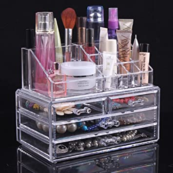 Topsalon Acrylic Cosmetic Organizer  Drawers Drawer Makeup Case Storage Holder Box