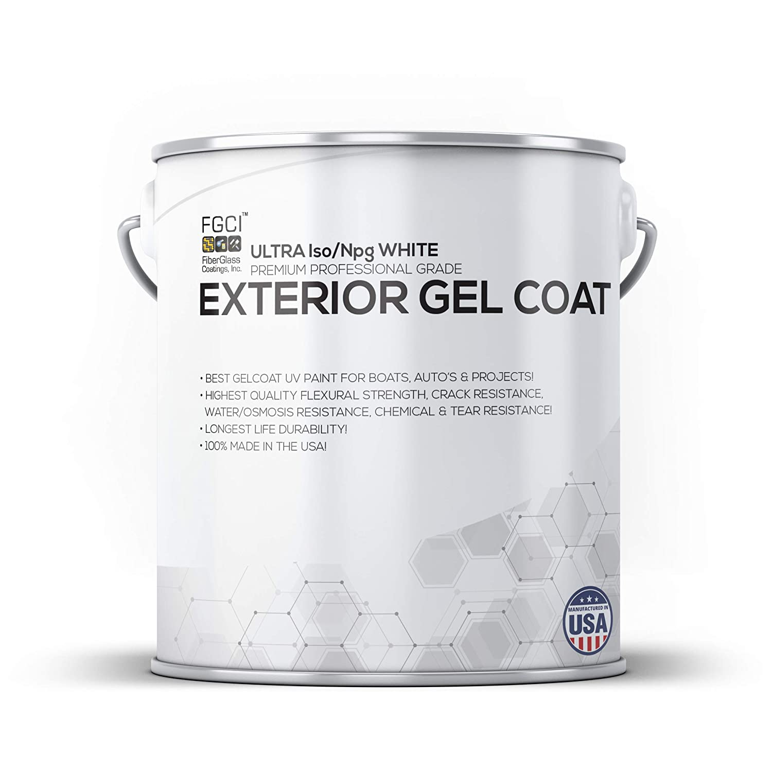 B019HB8NVA Ultra White Boat Paint, Exterior Gel Coat KIT, 1 Quart W/ 1 OZ MEKP, Fiberglass Coatings, Inc, Professional Marine GELCOAT Specialists, Boat Exterior Hulls, Boat Interior Decking, DIY Projects 71vQQCiW7mL