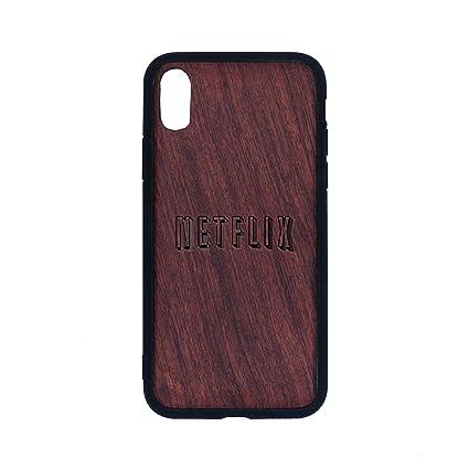 Amazon.com: Netflix - iPhone Xs CASE - Rosewood Premium Slim ...