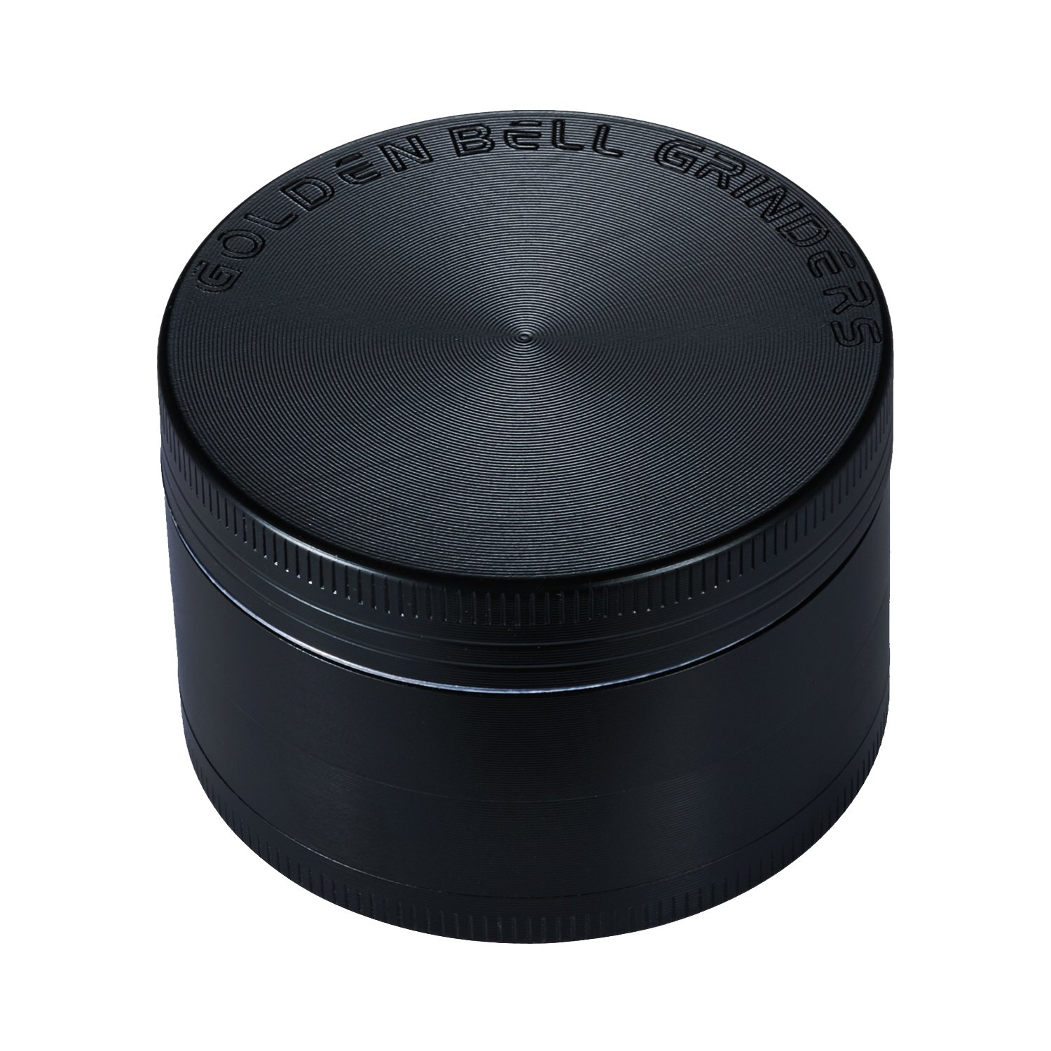 Golden Bell 4 Piece Spice Herb Grinder, 2-Inch - Black
