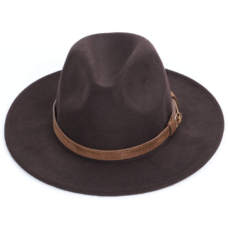 Autumn Winter Wool Mens Fedoras Womens Felt hat Sombrero Jazz Male Bowler hat Outdoor Vintage top Hats Black
