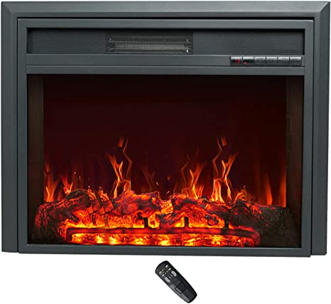 C Hopetree Electric Fireplace Insert Portable Free Standing Heater 750 1500w Incl Remote Control Timer 28 Inch Wide Kitchen Dining