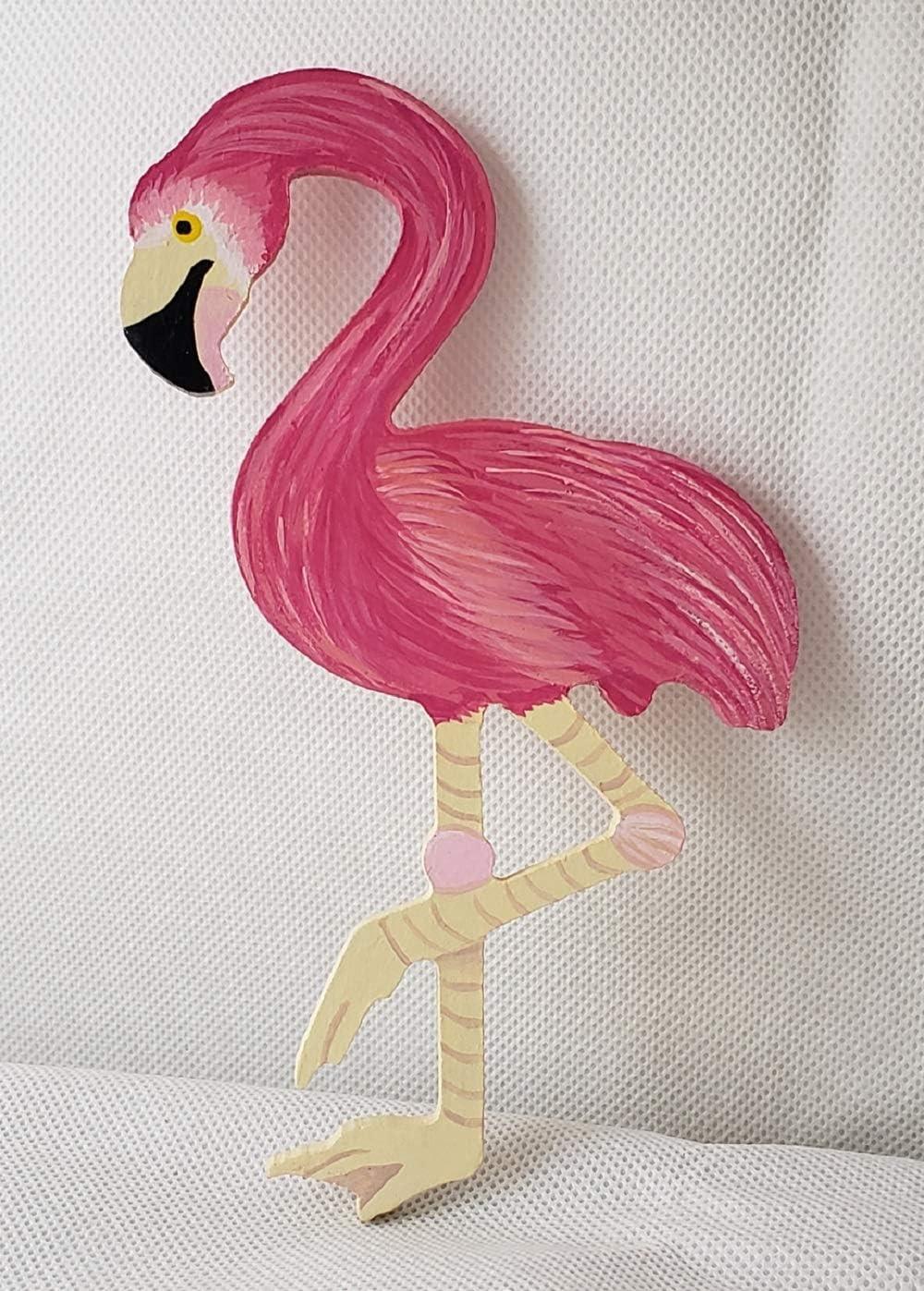 Flamingo Maple Wood Wooden Sticker