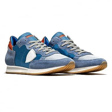 Philippe Model Herren Sneaker Low Bleu/Blanc Tropez L U Basic Bleu/Blanc Low - Hochwertige Designer Sneaker Bus Leder und Stoff... b583f2