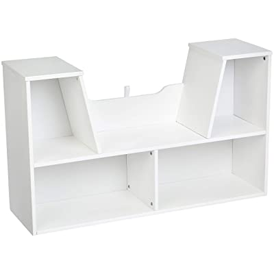 Basics Kids Bookcase with Reading Nook and Storage Shelves - White: Industrial & Scientific