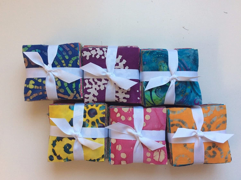 "Quilt 200 Pieces $ FALL SALE $ Cotton Fabrics Quilting  3-1//2/"" Squares"