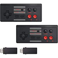 LiNKFOR Wireless Controller for NES 2 Pack NES Mini Classic Controller for Classic Mini Edition and PC with Rechargeable…