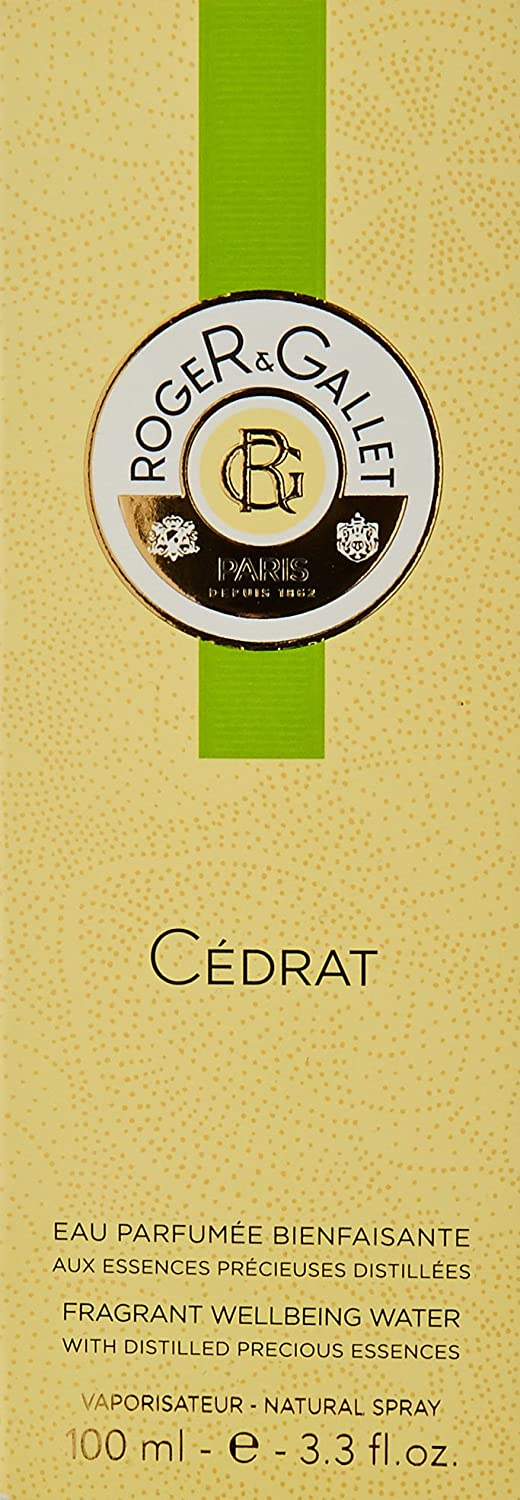 Roger and Gallet Cedrat Citron Cologne, 3.3 Fluid Ounce