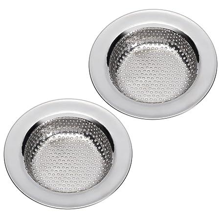 Filter,Large Wide Rim 4.5 Diameter by Kdrain-2 PCS Kitchen Sink Drain Strainer,Drain Cover Drain Stopper Sink Strainer