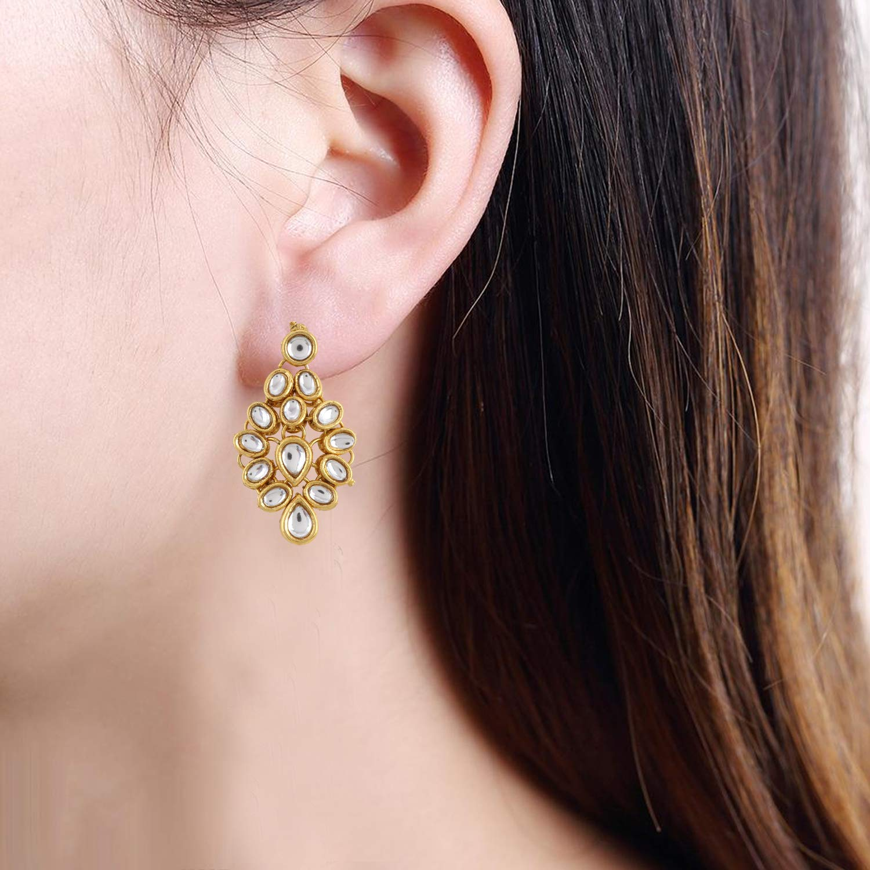 Aradhya Big Girls Traditional Choker Necklace Kundan With Earrings And Maang Tikka