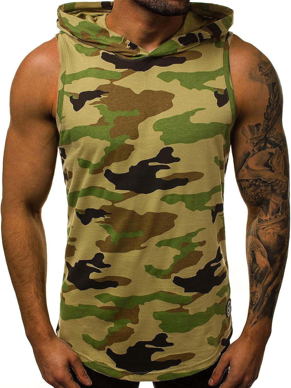 OZONEE Mix Herren Tanktop Tank Top Tankshirt T-Shirt Kapuze Unterhemden /Ärmellos Muskelshirt Fitness 05T